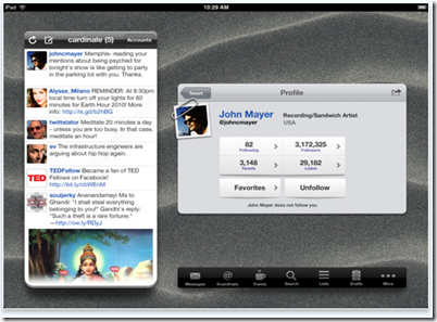 Twittelator pro for ipad
