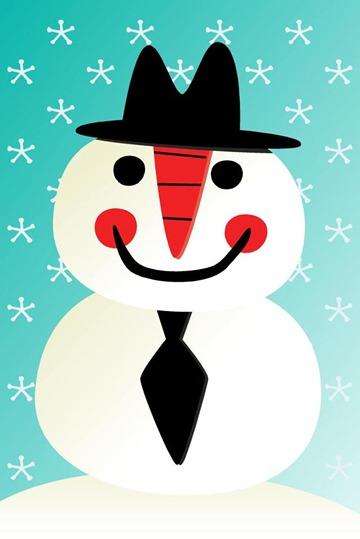Snowman wallpaper for iPhone