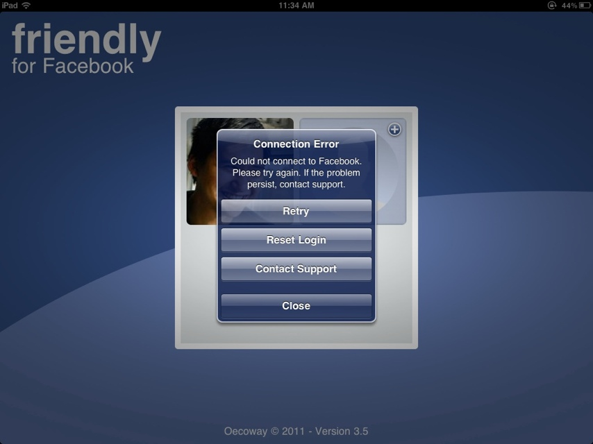 Friendly for Facebook iPad app not working? A hot fix is