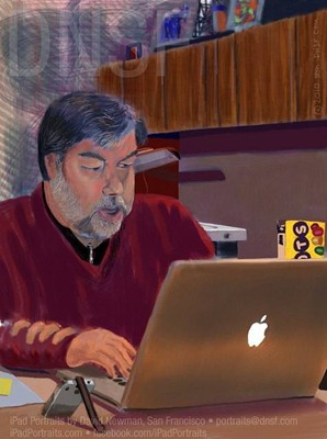 iPad portrait of Steve Wozniak by David Newman