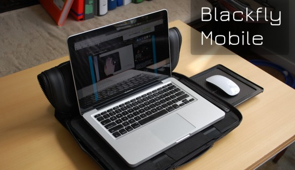 review blackfly mobile workstation for 13 17 laptops isource. Black Bedroom Furniture Sets. Home Design Ideas