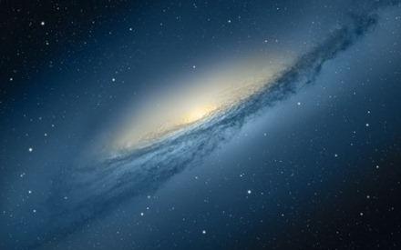 Galaxy Mountain Lion Wallpaper