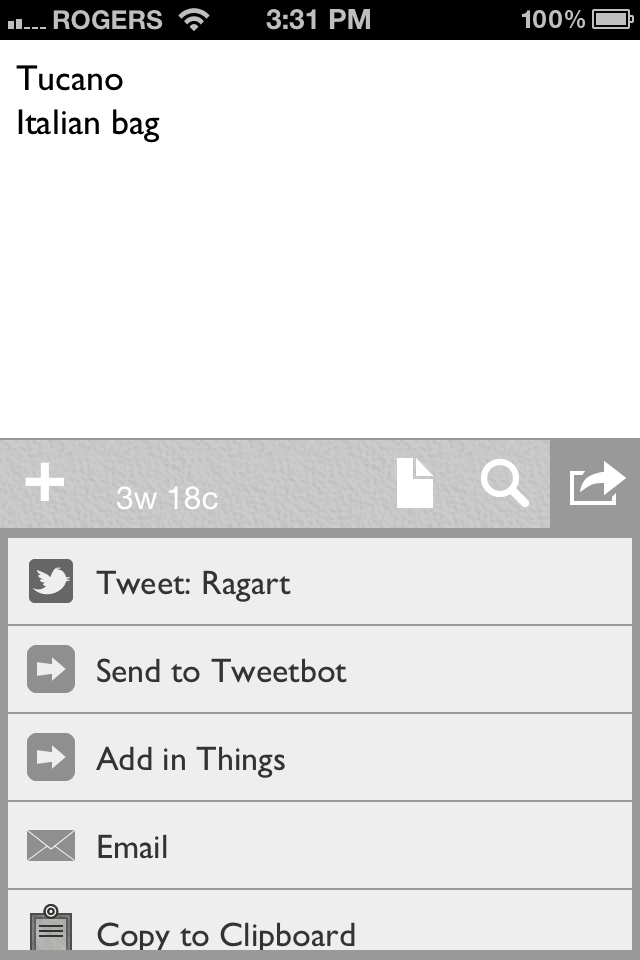 Drafts for iPhone