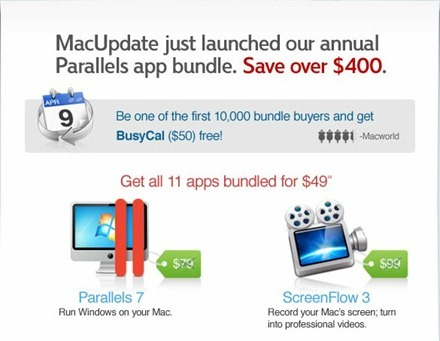 MacUpdate Bundle_ Parallels 7, BusyCal, Screenflow, Civ V, lots more, 11 Mac Apps_ $49.99  9to5Mac  Apple Intelligence