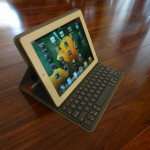 Solar Keyboard Folio With iPad Angle View