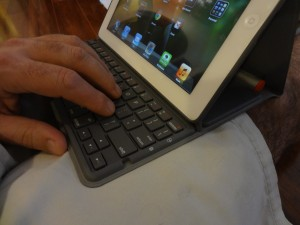 Solar Keyboard Folio in the Lap