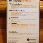 BT Media Remote back