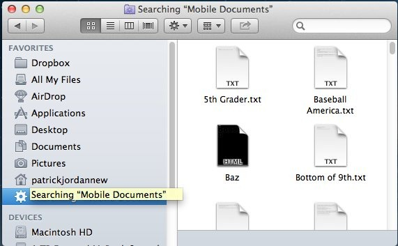 Mac tips how to view access your icloud documents in for Documents to icloud from mac