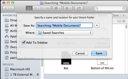 Mac Searching Mobile Documents