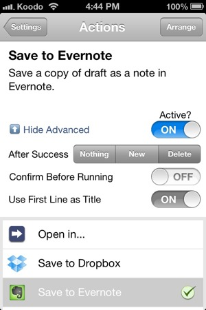 how to delete drafts in outlook iphone