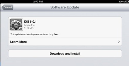 iOS 601 Update
