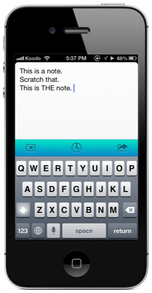 Scratch for iPhone