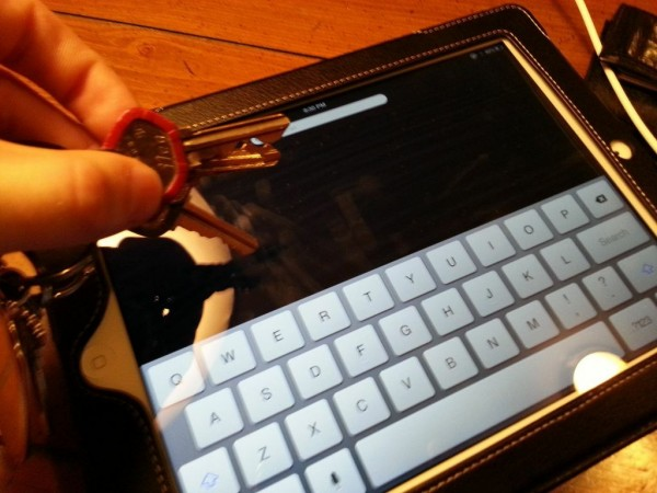 The iPad screens are incredibly durable and stand up well to scratching from things like keys.