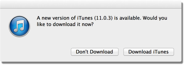 itunes 11.0.3 update prompt