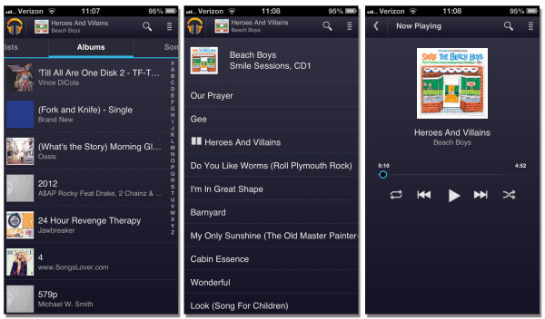 google play music mobile web interface