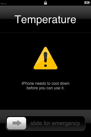 iPhone needs to cool down
