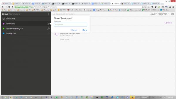 iCloud Account Sharing