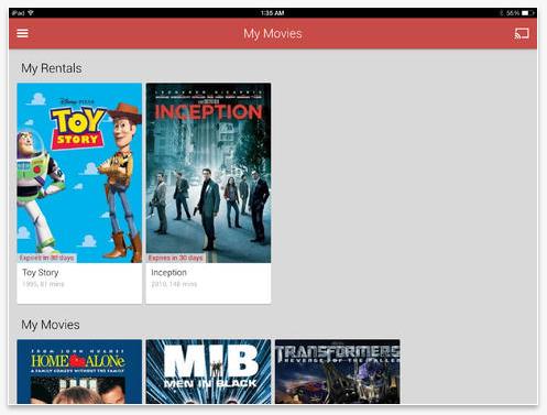 Google Play for iPad