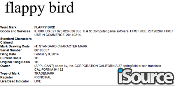 flappy-bird-trademark-filing-oneclick