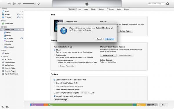 Restore-iOS8