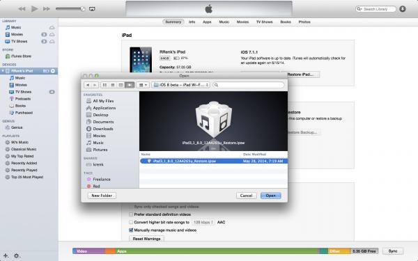 iOS 8_iPSW-file