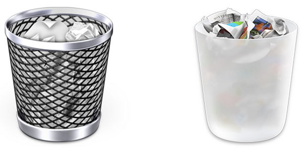 OS X TRASH CAN ICONS