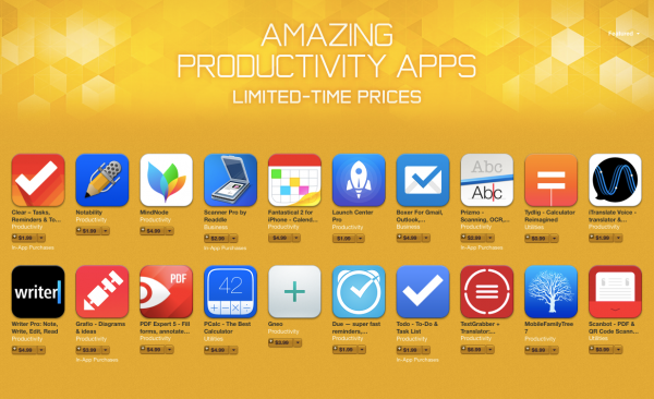 Productivity-app-sale