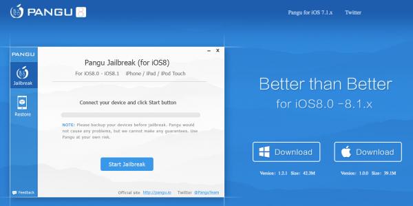 PanGu-iOS 8-jailbrake