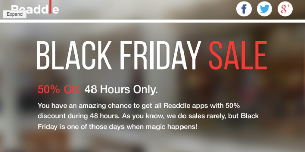 Readdle-Black-Friday-Ad