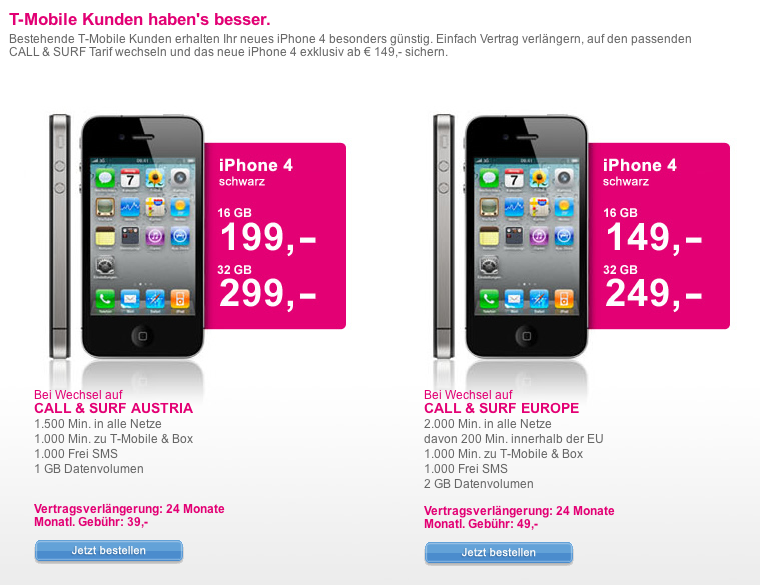 t mobile iphone 4 t mobile austria offers iphone 4 to existing 13107